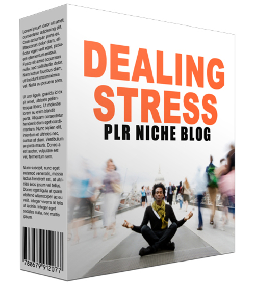 Product picture Dealing Stress Niche Website